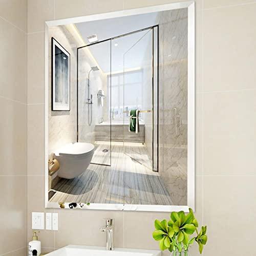 zcyg Espejo baño Espejos Pared Mirror Espejos De Baño, Espejos Rectangulares Grandes, Espejo De Maquillaje Biselado Sin Marco, Decorativos para El Hogar(Size:35 * 45cm)