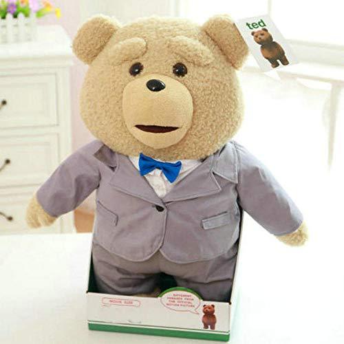 KAMRL Plüschtier 60 cm Plüsch-Teddybär-Ted-Film-Action-Figur-Teddybär-Puppenspielzeug, Das Schmutzige Wörter Spricht Ted Recording Teddy Bear Repeater Toys @ 60Cm_F