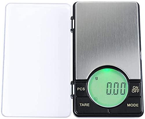 Fisecnoo Báscula electrónica Mini portátil de bolsillo de joyería báscula de 0,01 g, balanza digital, báscula de cocina para Diamond Gold Lab Báscula de pesaje (color: 500 g/0,01 g)
