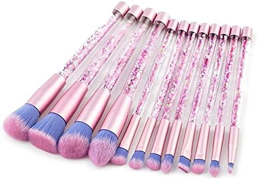 12 peças de pincéis de maquiagem de diamante, ferramenta de beleza para sombras, delineadores, base, blush, lábios, sobrancelhas, cosméticos, maquiagem