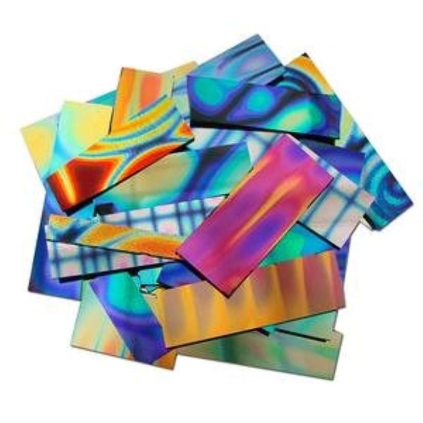 1/2 Lb Dichromagic Tie Dye Pattern Scrap On Black - 90 Coe