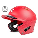 Under Armour UABH2-100M Youth Converge - Casco de béisbol con acabado mate, Youth size 6 3/4' & under, Escarlata
