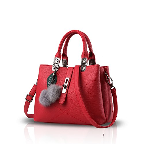 NICOLE & DORIS 2020 Neue Welle Paket Kuriertasche Damen weiblichen Beutel Handtaschen für Frauen Handtasche Claret Rouge