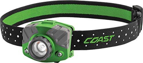 Coast - 20619 COAST FL75R Rechargeable 530 Lumen Dual Color Focusing LED Headlamp, Green Green