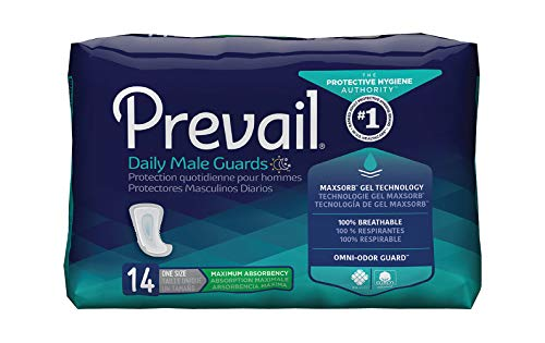 Prevail Incontinence Pads For Men - 14 Ct