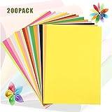 200 Hojas Papel A4 de Colores, WEONE Origami para Niños, Papel Multicolor de Doble Cara para Papiroflexia Manualidades Bricolaje Dibujo Decoración Impresora Oficina (20 Colores)
