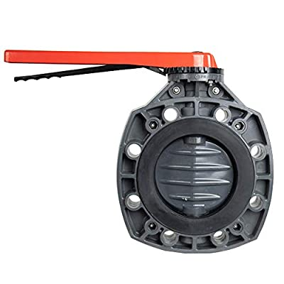 """3"""" Classic PVC Plastic Butterfly Valve with Lever Handle and EPDM O-Ring (Each) by Cepex"""