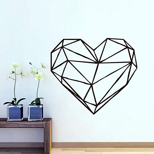 Muurstickers met geometrische hartjes, verwijderbare muurstickers voor kinderkamer, hartvormig muurkunst, behang, decoratie,