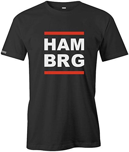 Jayess HAM BRG - Hamburg - Herren - T-Shirt in Schwarz by Gr. XL