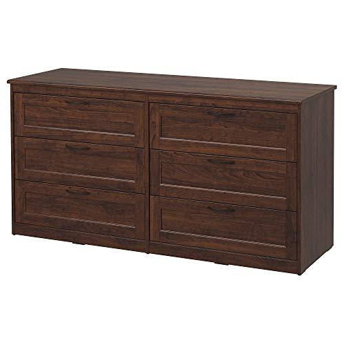 IKEA Songesand 503.667.99 Kommode mit 6 Schubladen, Braun