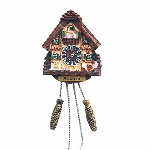 Reloj de cuco 3D estilo Austria imán para nevera, regalo de recuerdo para nevera