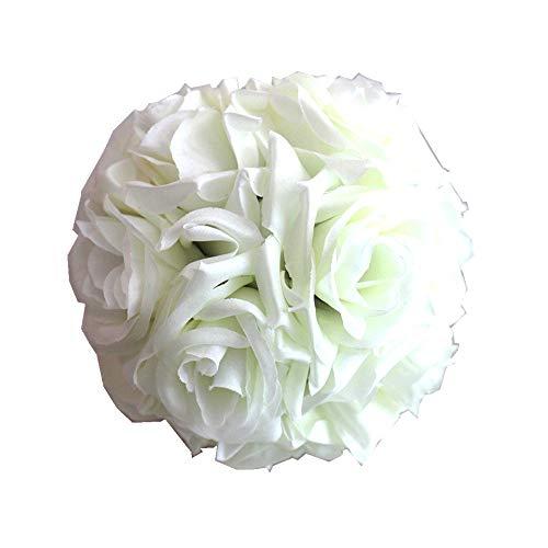 YOUQING Blumenkugel, bunt, Kugelblume, künstliche Rosen, Kunstblume, Stoff-Rosenkugel, Hochzeit, Party-Dekoration