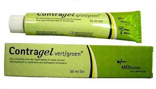 Contragel Green Contraceptive Gel 60ml - Natural Alternative to Spermicide