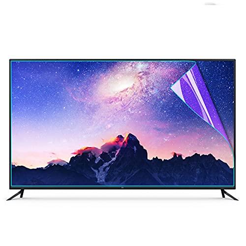 TYRHMY 43-65 Zoll TV Anti-Blaulicht Augenschutz Folie, LCD TV Displayschutzfolie Anti-Glare/Anti-Kratzfolie für Sharp, Sony, Samsung, LG, 50 Zoll 1095 * 616