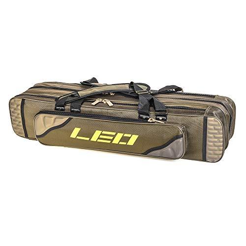 Lixada Folding Fishing Rod Case Potable Canvas Fishing Pole Tools Reel Storage Bag Fishing Gear...
