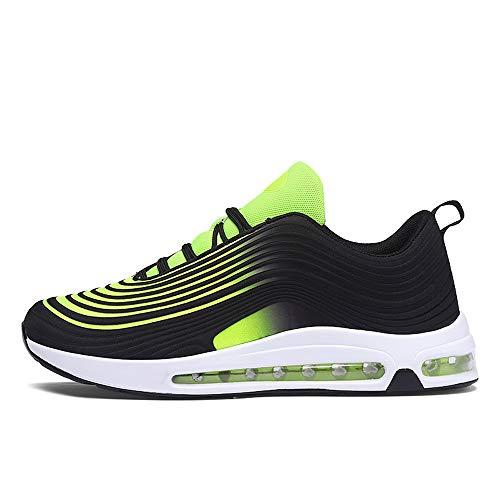 SXFGML Air Zapatillas De Running,Hombre Mujer Calzado Deportivo Ligero Y Transpirable Asfalto Zapatos para Correr Antideslizante Sneakers,Verde,39
