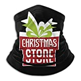 JONINOT Sports Face Guards Christmas Store (2) Calentador de cuello Bufanda de cuello transpirable a prueba de viento Bufanda mágica de fiesta unisex Pasamontañas