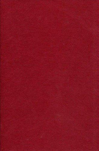 Hobby loisirs et travaux manuels Fun feutrine acrylique – 5 pcs Vin Rouge # 7417