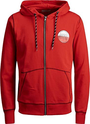 JACK & JONES Herren Kapuzenpullover Hoodie Core Storm Sweatshirt Sweat Friday Hood 2018 S M L XL XXL (L, 54 Rot)