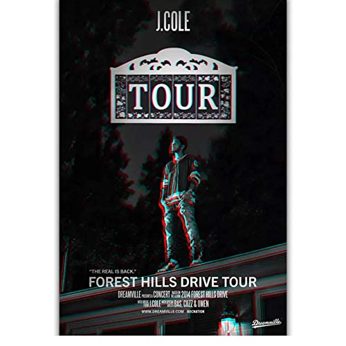 dubdubd J.Cole Forest Hills Drive Tour Hip Hop Star Album Cover Art Poster Painting Pictures Home Decor Gifts Print On Canvas-50X70Cm No Frame