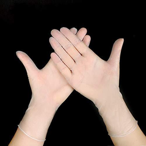 Einweg-Handschuhe, PVC, transparent, aus Bakterien, zum Backen, Schönheit, Geschirrspülen, L