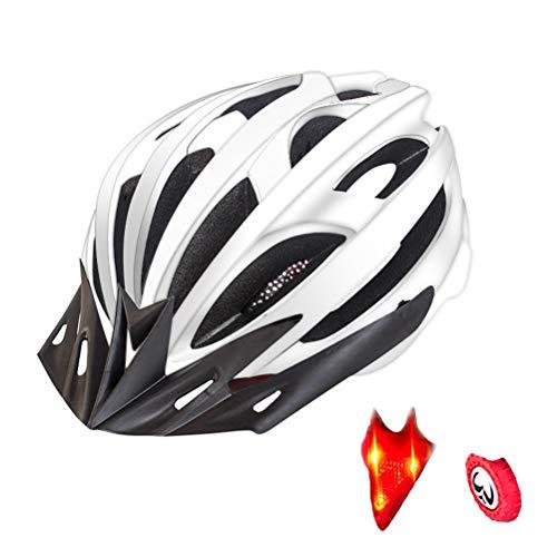 Ourine Ultraleichter Fahrradhelm, verstellbarer Fahrradhelm mit Rücklicht, Sicherheit, Rennrad, Mountainbike, Fahrradhelm für Damen und Herren