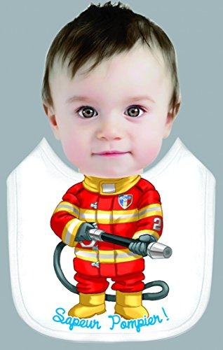 Bavoir Enfant 29x26cm Sapeur Pompier