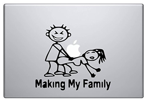 Making my Family (Black 8') Vinyl Decal Sticker for Car Automobile Window Wall Laptop Notebook Etc.... Any Smooth Surface Such As Windows Bumpers