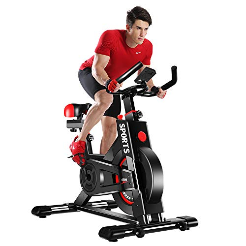 YOLEO Exercise Bikes (2020 Upgraded Version), Studio Quality, LCD Displays, Heart Rate...