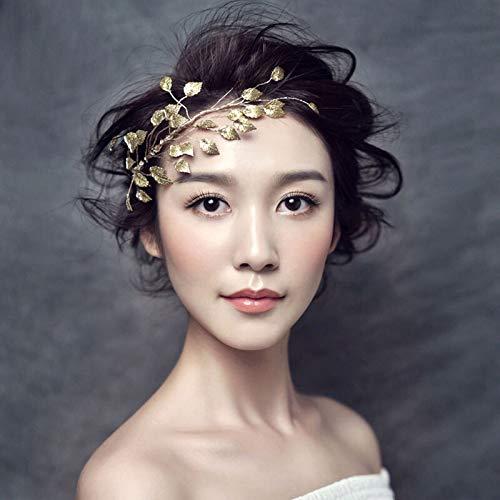weichuang Hecho a mano nupcial boda accesorios para el cabello oro metal...