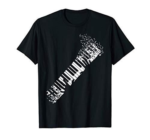 Piano Music T-Shirts Geschenke für Tastatur Player Musiker