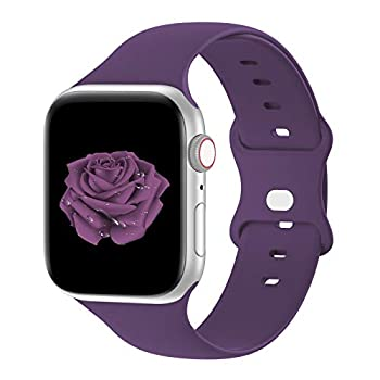 Bandiction Compatible with Apple Watch Series 3 38mm Series 5 40mm iWatch Bands 38mm 40mm Soft Silicone Sport Replacement Strap Compatible for iWatch SE Series 6 5 4 3 2 1 Sport Edition 38/40MM