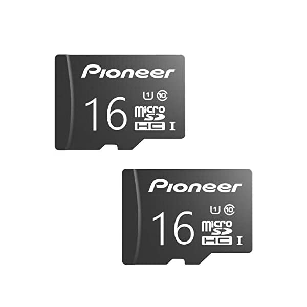 Pioneer microSD Classic with Adapter – C10, U1, Full HD Memory Card (2 Pack)