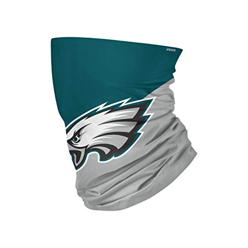 Foco Philadelphia Eagles Colour Block Big Logo Gaiter Scarf Forever Collectibles - One-Size