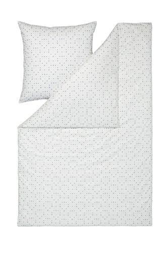 Estella Mako-Batist-Bettwäsche JANDIA 2232, 135x200 + 80x80 cm, Fb. 900 schwarz