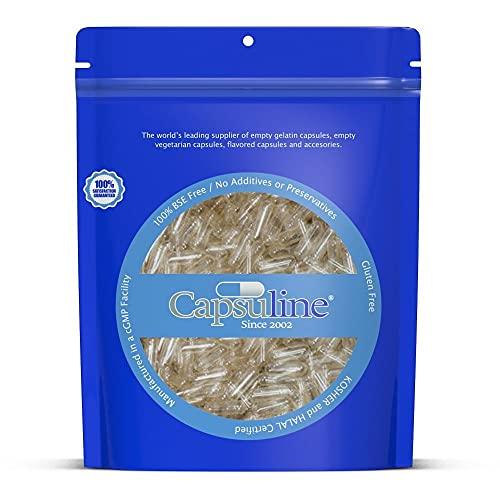 Cápsulas de gelatina vacías de tamaño 1 por Capsuline,...