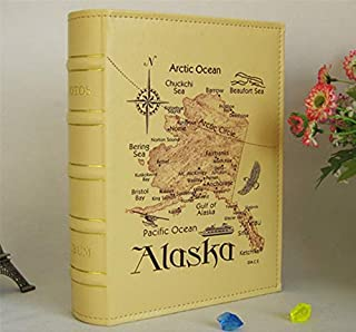 Best Design Alaska Map Pu Leather Vintage Photo Album Of 6 Inch 4d Family Wedding, Vintage Seal Fur - Used Fur Coats, Vintage Fishing, Ulu Knife Vintage, Vintage Tooled Leather Belt