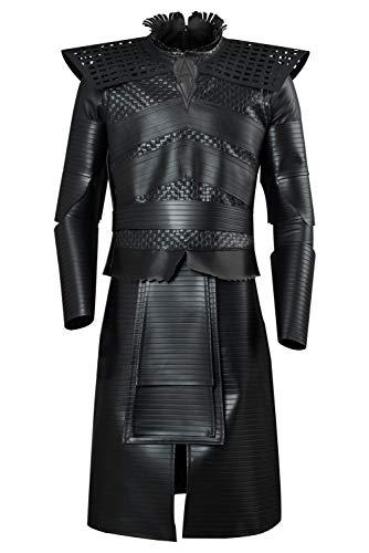 tianxinxishop Mannen Jon Sneeuw Nacht Koning Halloween TV Cosplay Kostuum Leer Middeleeuwse Koning Ridder Fancy Jurk Warrior Robe Complete Set Multi Versies