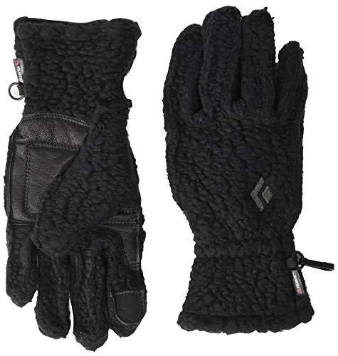 Black Diamond Yetiweight - warme, Touchscreen-kompatible Fleece Handschuhe mit weichem Tragegefühl & Wildleder-Flächen / Schwarz, Unisex, Größe: XS