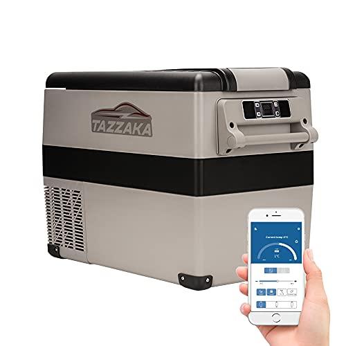 Tazzaka 55L 12V Auto Kompressor Kühlschrank Kühlbox Tragbar 12V/24V Elektrische Gefrierbox Gefrierschrank für Auto Camping, BBQ, Lkw,Boot, Manuelle und App Steuerung für Android & iOS, -20℃ bis 20℃