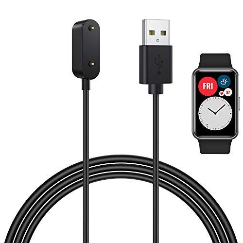 CAVN Cargador Compatible con Huawei Watch Fit/Huawei 4X / Honor Watch ES/Huawei Band 6, 1 Cable de Cargador para Huawei Watch Fit/Honor Watch ES Base de Carga USB
