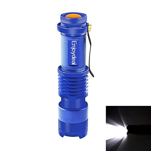 Preisvergleich Produktbild EBILUN Mini Q5 LED 1200 Lumen Zoomable Taschenlampe AA / 14500 Ultra Helle Tragbare Taschenlampe Für Radfahren Camping Wandern Blau 1 stücke
