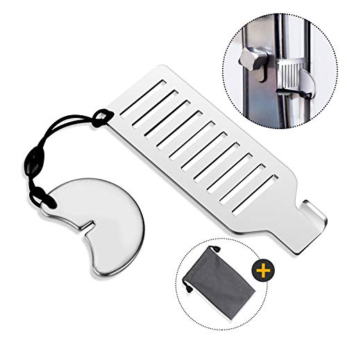 Portable Door Lock for Travel - Improved Travel Door Lock Hotel Door Lock Apartment Security Device Door Jammer ozozo