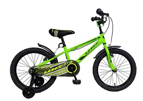 "Ümit Bicicleta 18"" XT18, Juventud Unisex, Verde Pistacho, Mediano"