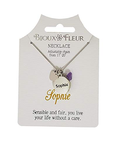 Bijoux Fleur Necklace with The Name Sophie
