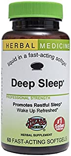 Deep Sleep - Natural Herbal Sleep Aid Supplement - Non-Habit Forming - All Natural Sleep Remedy Pills - 60 Softgels (Made ...