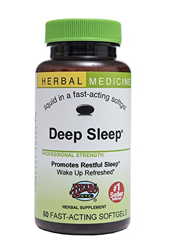 Deep Sleep - Natural Herbal Sleep Aid Supplement - Non-Habit Forming - All Natural Sleep Remedy Pills - 60 Softgels (Made With California Poppy, Valerian, Passionflower, Chamomile, Lemon Balm &Amp; More) - Herbs Etc