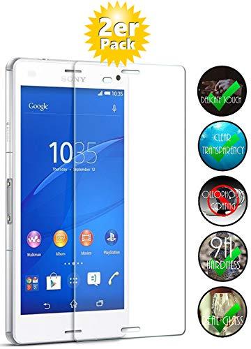 Smartphone-Equipment [2er Pack] Panzerglas für Sony Xperia Z3 Echt-Hartglas 9H, Glasfolie Schutzfolie Glas Folie Panzerfolie Display Schutz