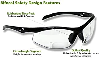 Bifocal Safety Glasses SB-9000 PS Clear, +2.00