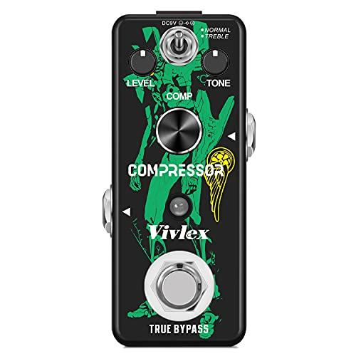 Vivlex LEF-333 Pedal de guitarra de compresión analógico mini Compressor compression efectos para guitarra eléctrica True Bypass